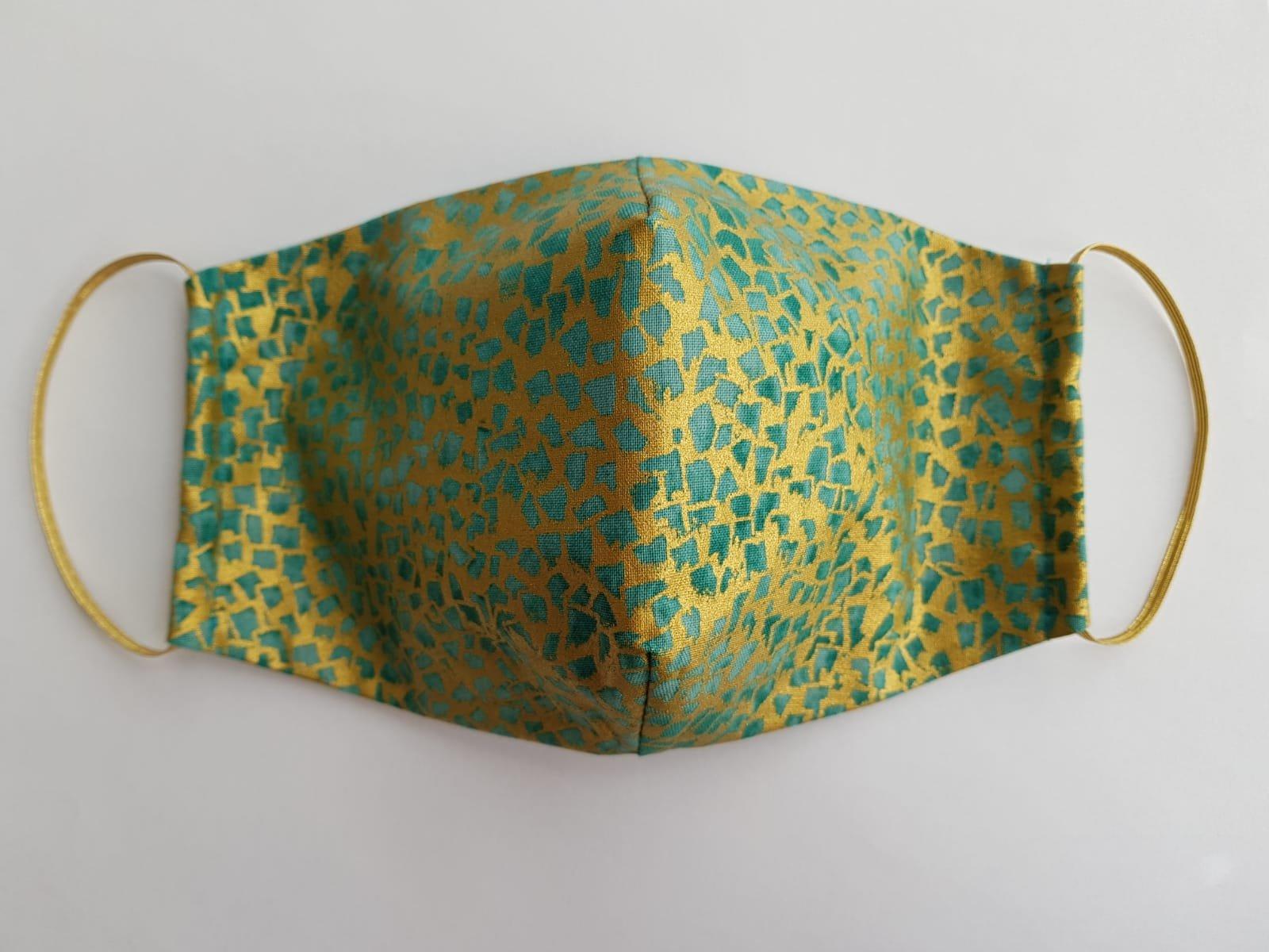 Bavlnené rúško Gustav Klimt zelené