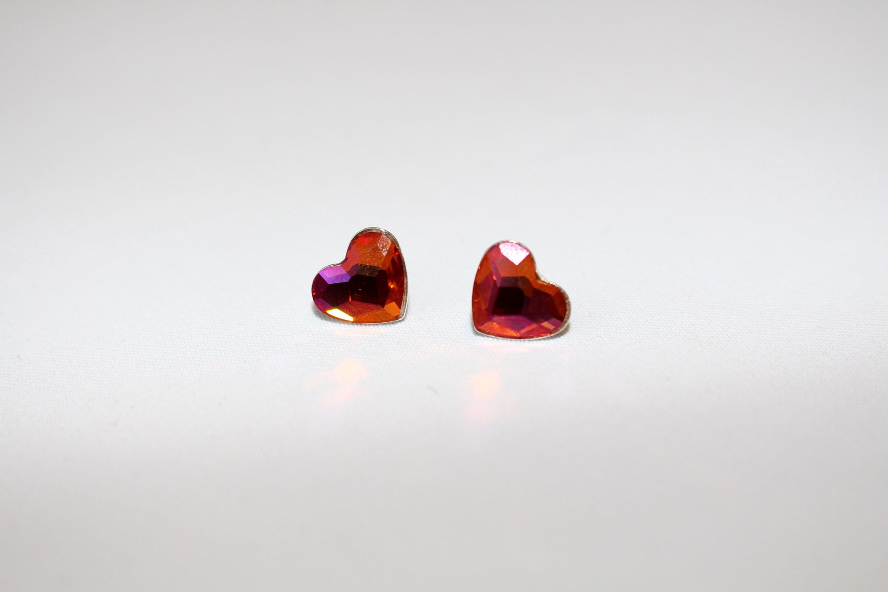 Small Heart in orange Earrings