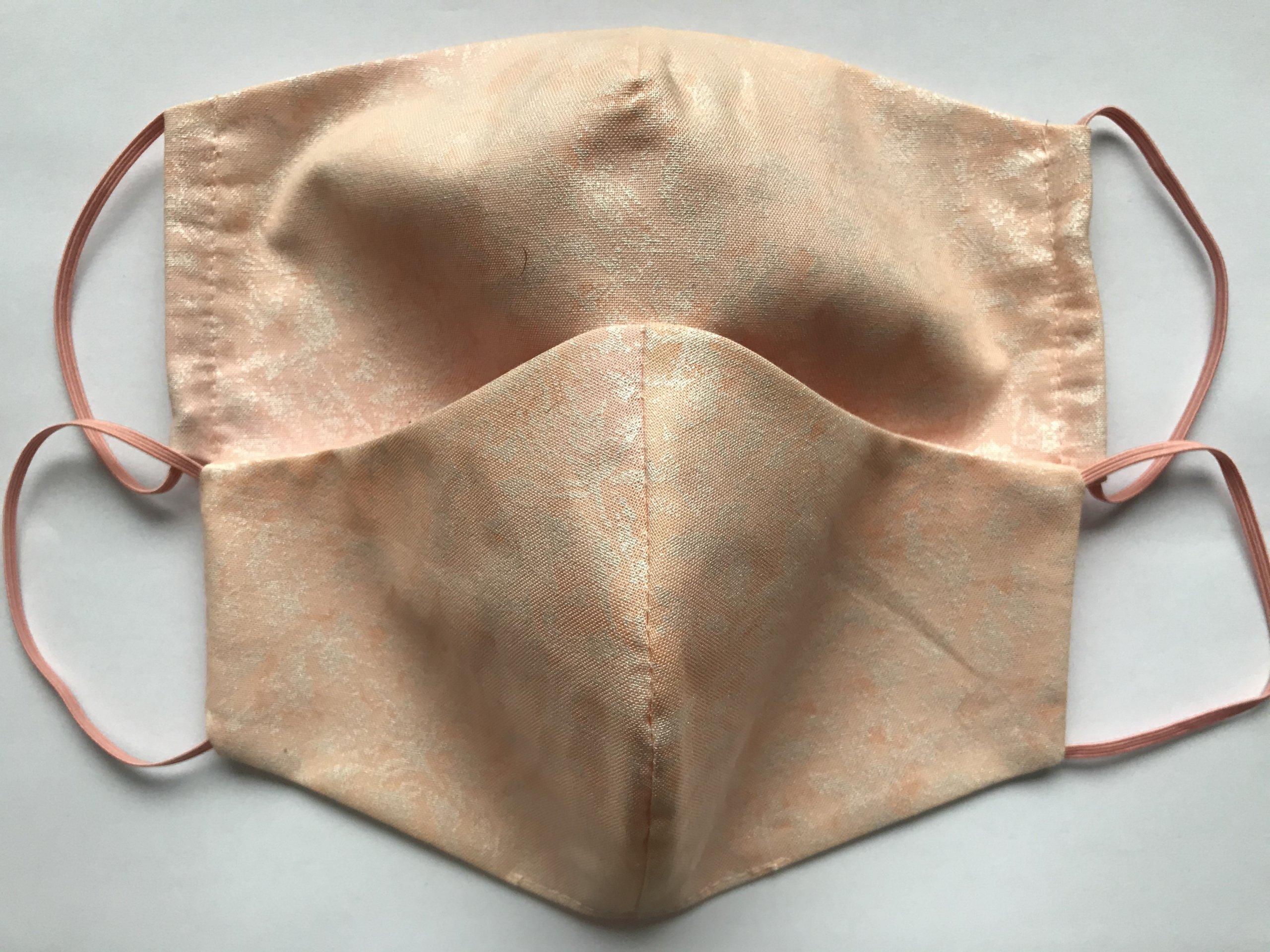 Bavlnené marhuľové rúško s potlačou
